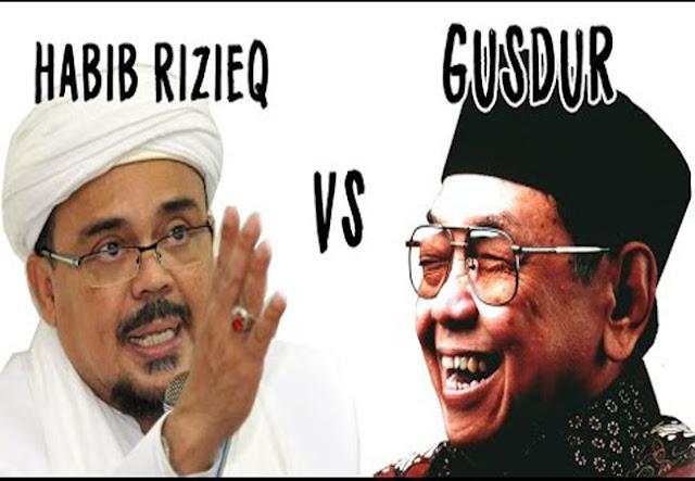 Pengagum Gus Dur: Habib Rizieq Itu Kualat Gus Dur