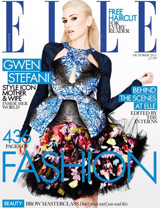 Gwen Stefani covers Elle UK October 2012