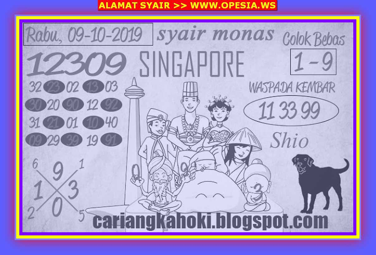 Kode syair Singapore Rabu 9 Oktober 2019 96
