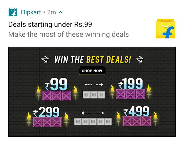 Notification from Flipkart
