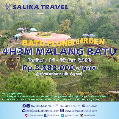 Batu Flower Garden - 4H3M Malang Batu - Salika Travel