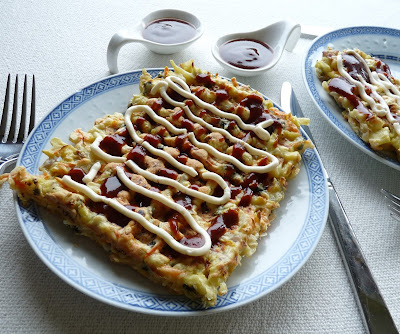 Grilled as you like it... savoury Japanese pancake in the form of waffles