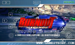 Burnout Legend PPSSPP Highly Compressed