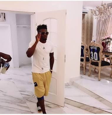 Footballer Obafemi Martins Shows Off His New House n Lagos