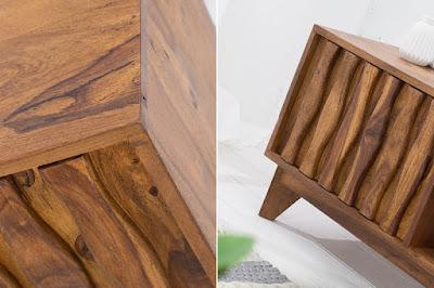 tv stolek Reaction, masivní nábytek, dřevěný nábytek