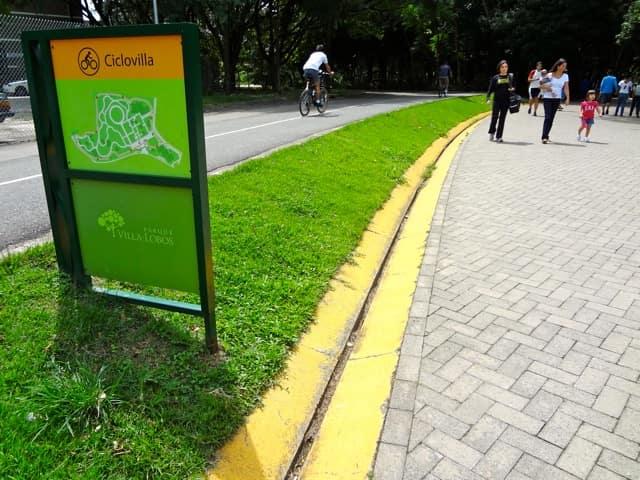 Parque Villa-Lobos - Ciclovia e pista de corrida e caminhada