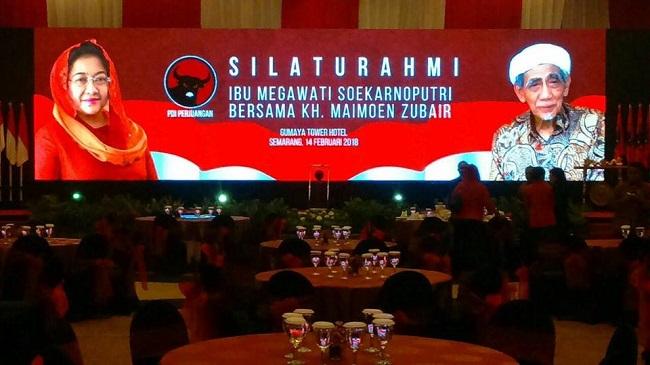 Megawati Seokarnoputri dan partai politik PDIP tak cantumkan foto Soekarno saat bertemu dengan ulama.