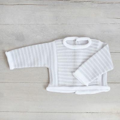 Jersey para bebé tejido a mano