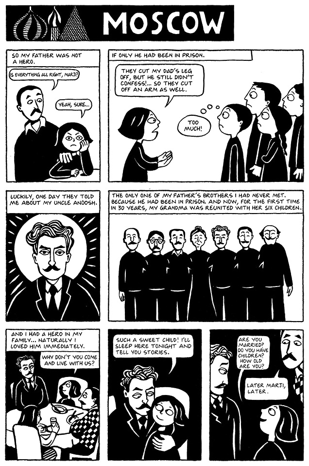 Read Chapter 8 - Moscow, page 52, from Marjane Satrapi's Persepolis 1 - The Story of a Childhood