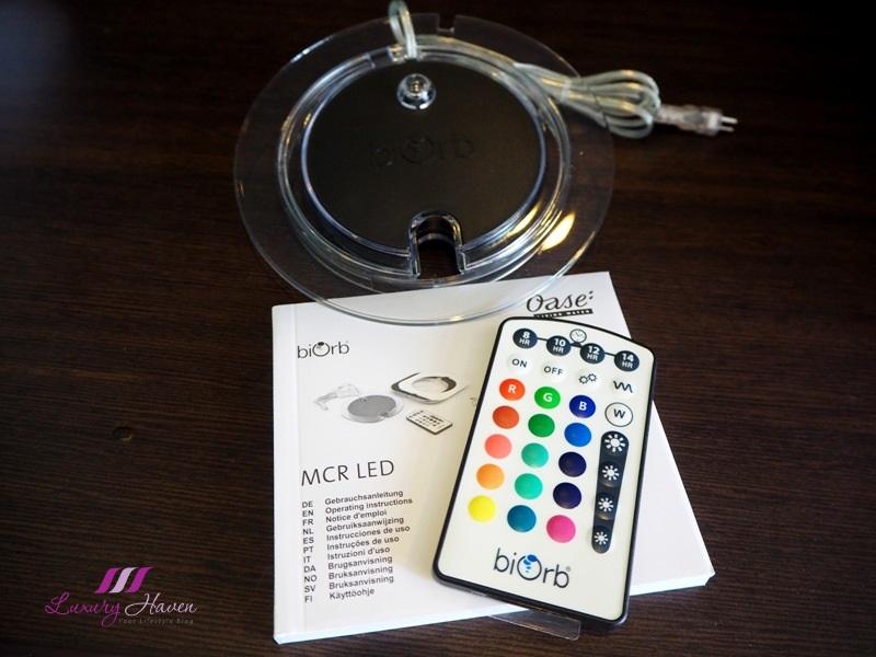 biorb multi colour light remote control