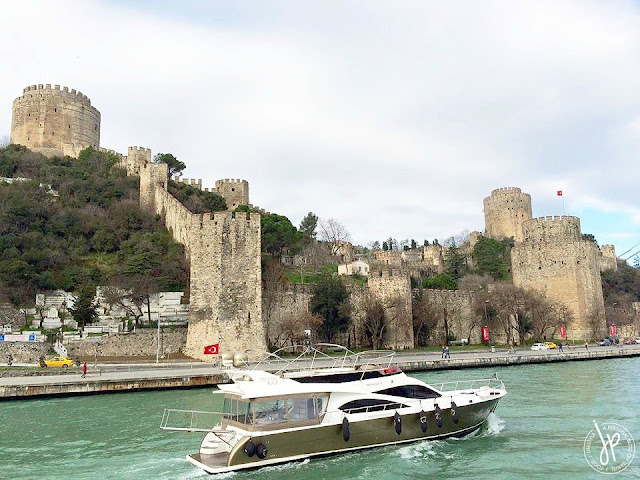 palace along bosphorus strait