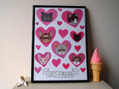 cats forever print