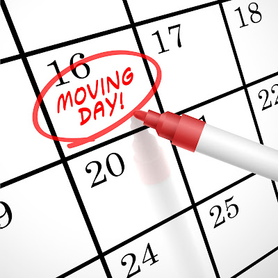 calendar with moving day highlighted