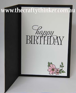 SU, www.thecraftythinker.com.au, hand made birthday card, pink & black