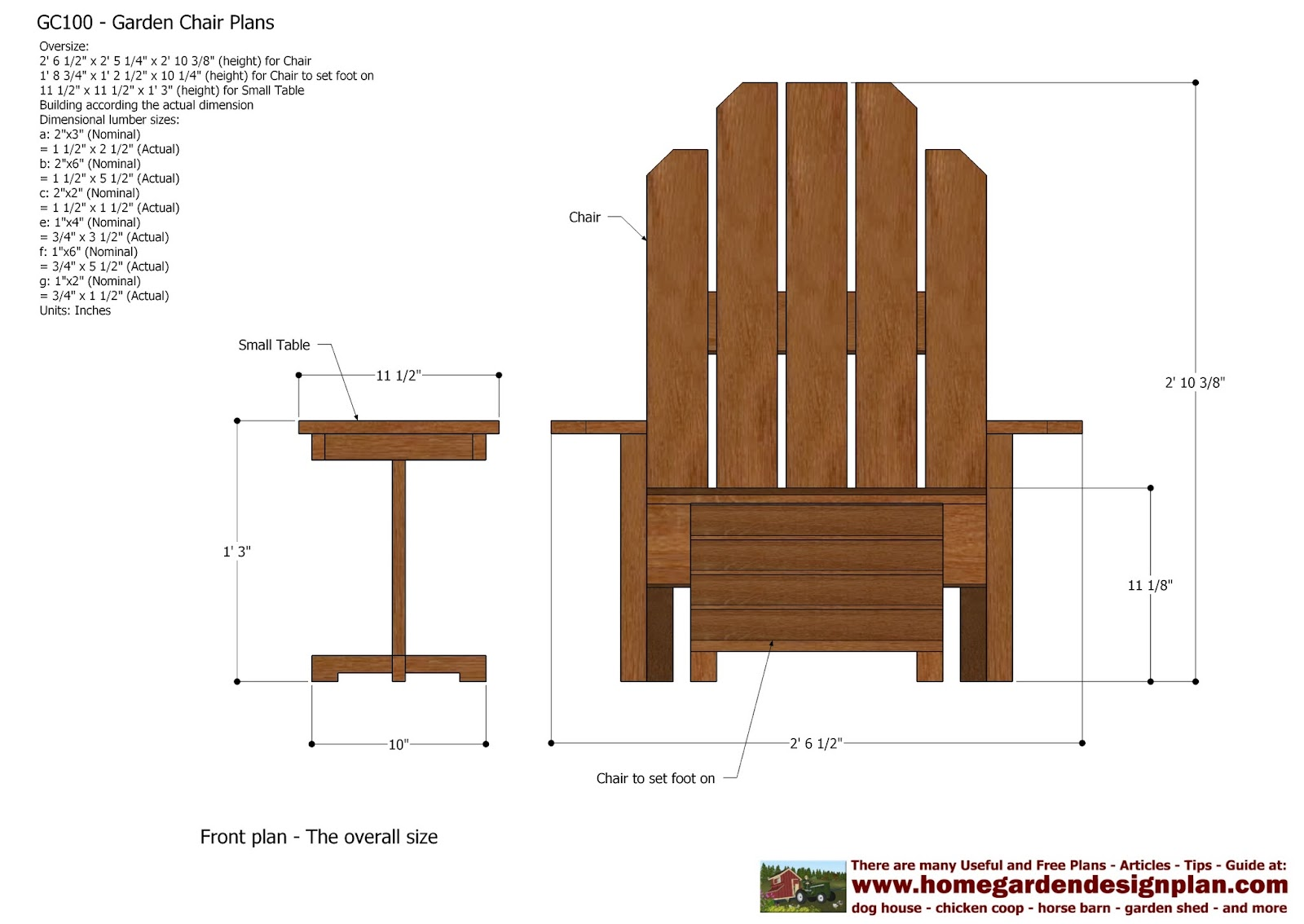 home garden plans: GC101 - Garden Chair Plans - Out Door ...