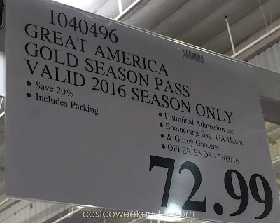 Deal for the Great America 2016 Gold Pass at Costco