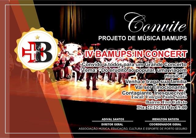 BAMUPS convida para o IV BAMUPS IN CONCERT