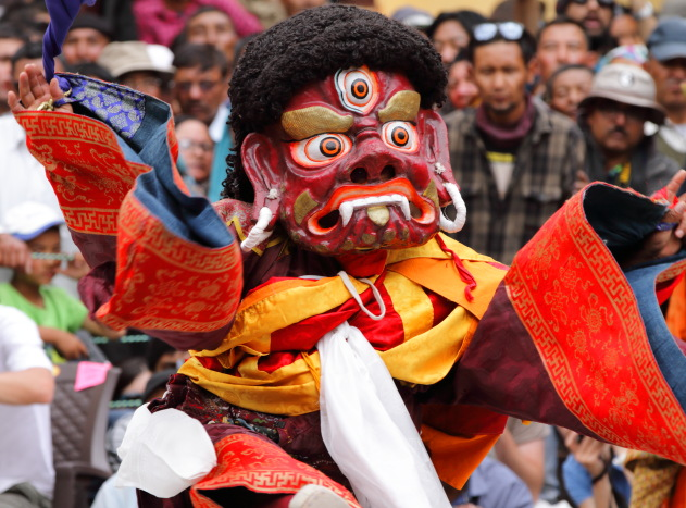 Dancing Guru Dorje Drolod at Hemis Monastery, Ladakh