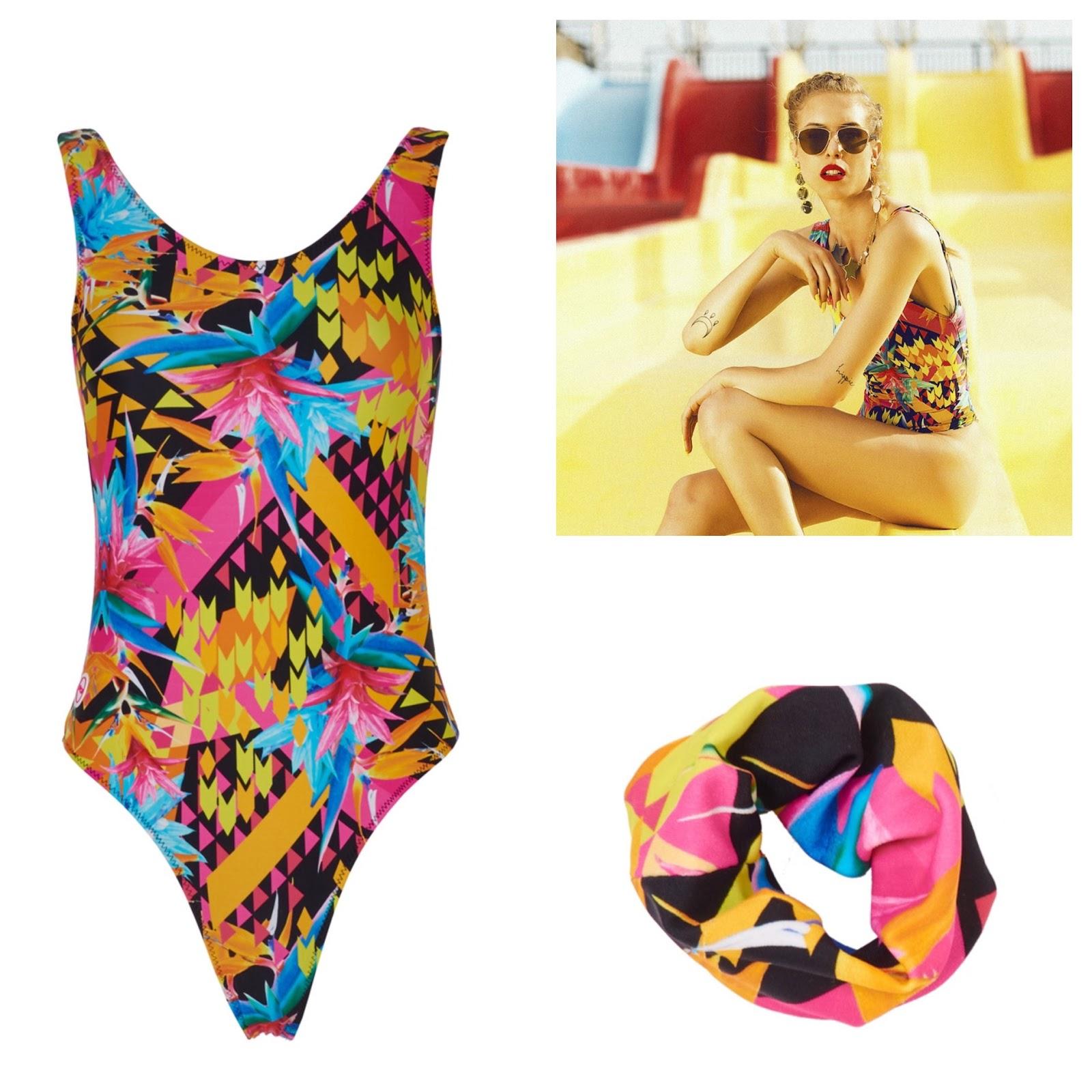 c2d9c86f5e63 The  Cosmic Love  Orange Printed Swimsuit