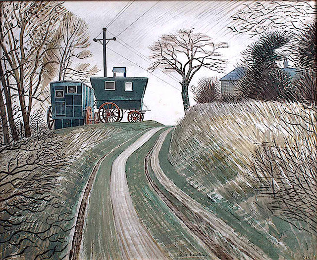 Eric Ravilious, wagons parked