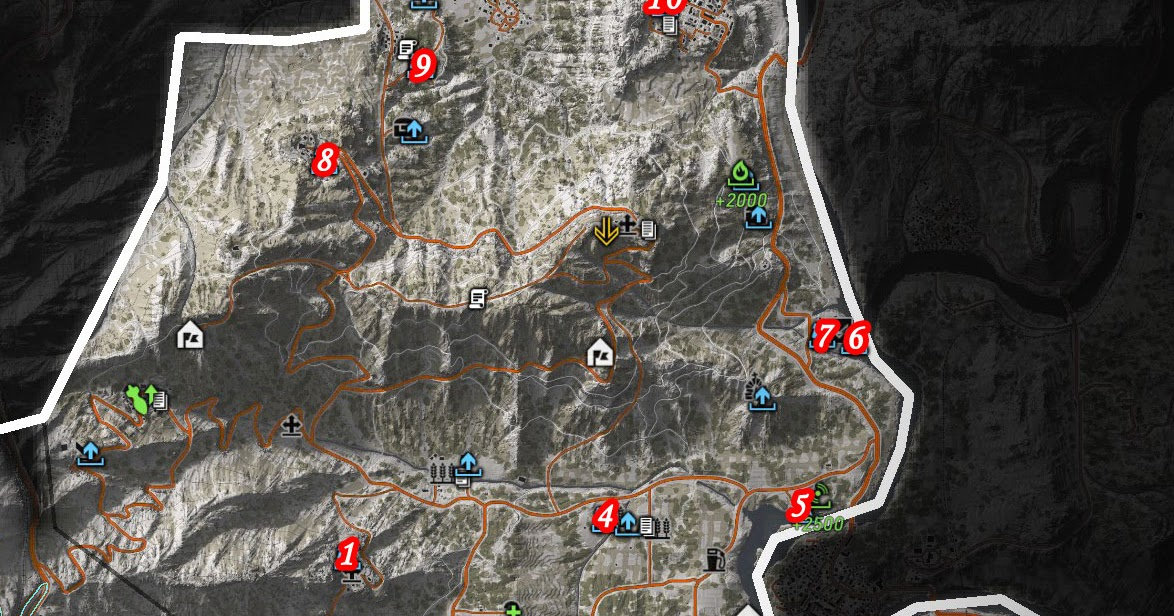 Ghost Recon Wildlands Karte.Ghost Recon Wildlands Itacua Map