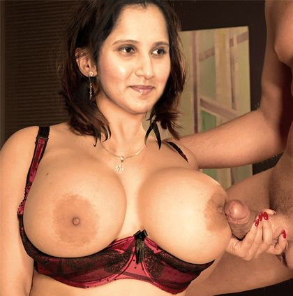 sania mirza hot boob
