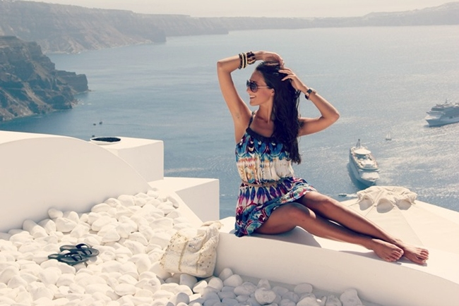 most beautiful fashion photos from Santorini island