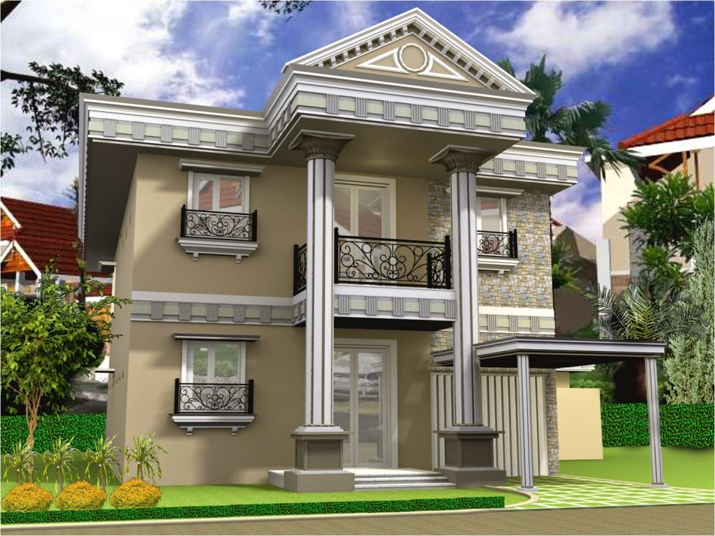 Gambar Desain Rumah Tingkat Minimalis 2 Lantai Mewah dan
