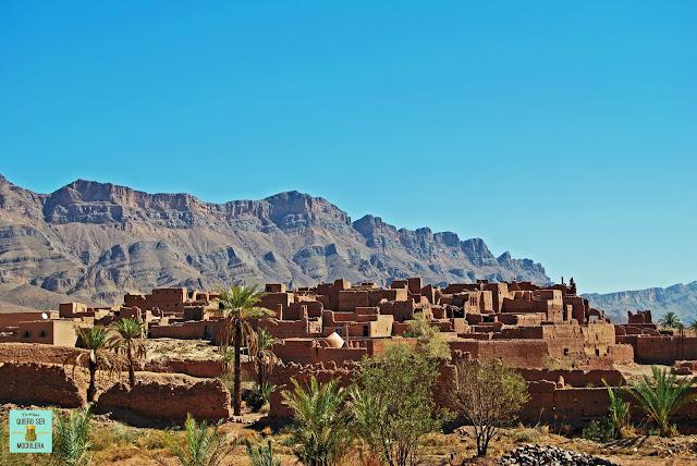 Tamnougalt desde su palmeral, Marruecos