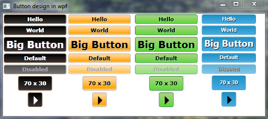 button style in wpf - jQuery 2 DotNet