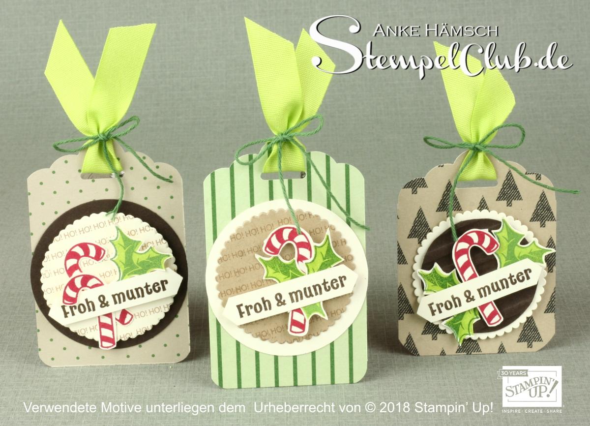 Candy Cane Season, Zuckersüße Weihnachten, so heißt das Stempelset  von Stampin ' Up! aus dem Winterkatalog