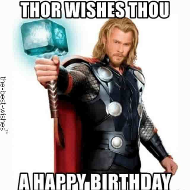 chris hemsworth funny birthday meme thor
