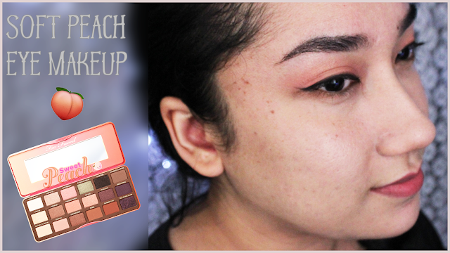 Soft Peach Tone Makeup Look using Sweet Peach Eyeshadow Palette by Too Faced Cosmetics
