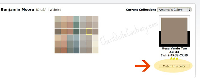 Cheri Quite Contrary: Comparing Paint Colors Between ...