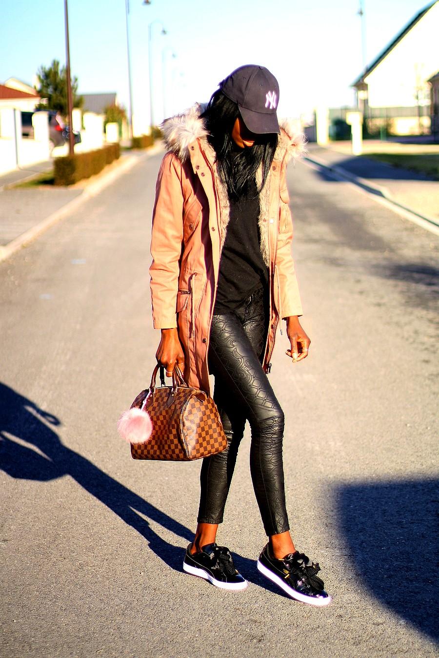 tenue avec puma suede rose