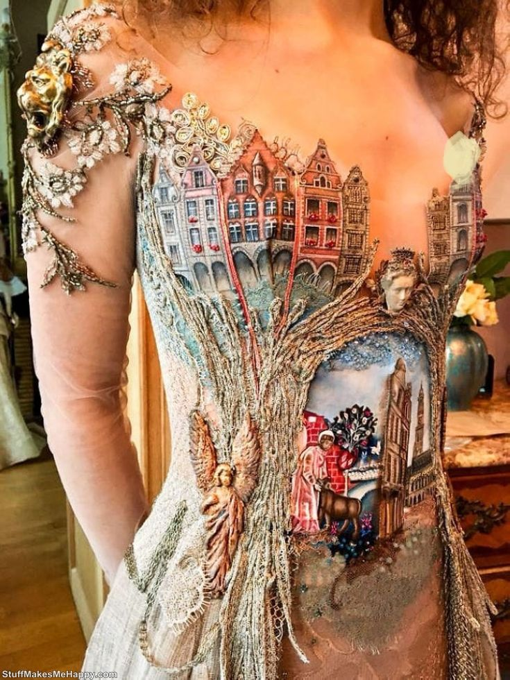 Beautiful Dresses Made Out of Unusual Materials look like from the pages of Fairy Tales