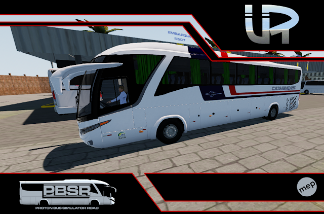 Skin Proton Bus Simulator Road - G7 1200 MB O-500 RS Viação Catarinense
