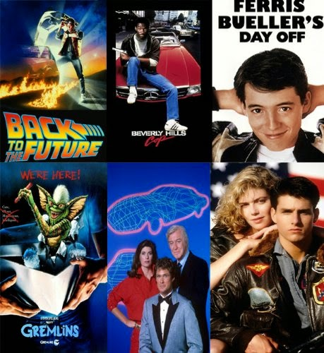 80s Film and TV Posters x 10