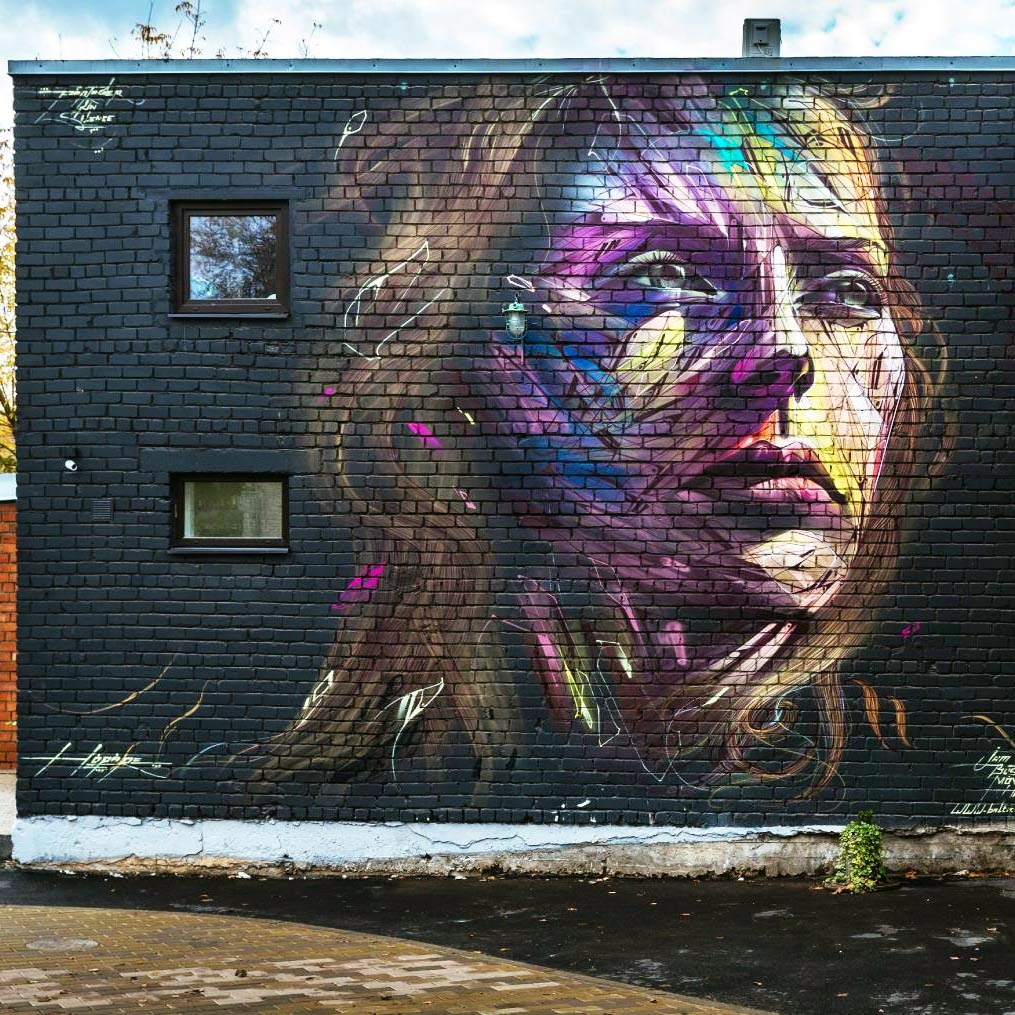 Our friend Alexandre Monteiro better known as Hopare recently stopped by Eastern Europe to paint a new piece in Estonia.