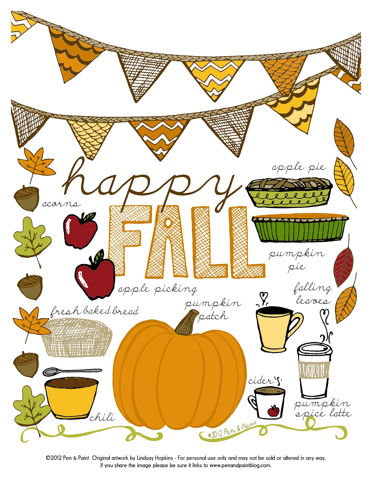Pen Amp Paint Did Someone Say Fall Free Printable Too