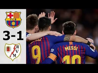 Barcelona vs Rayo Vallecano 3-1 Football Highlights and Goals 2019