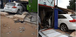 Toyota Rams into A shop in delta