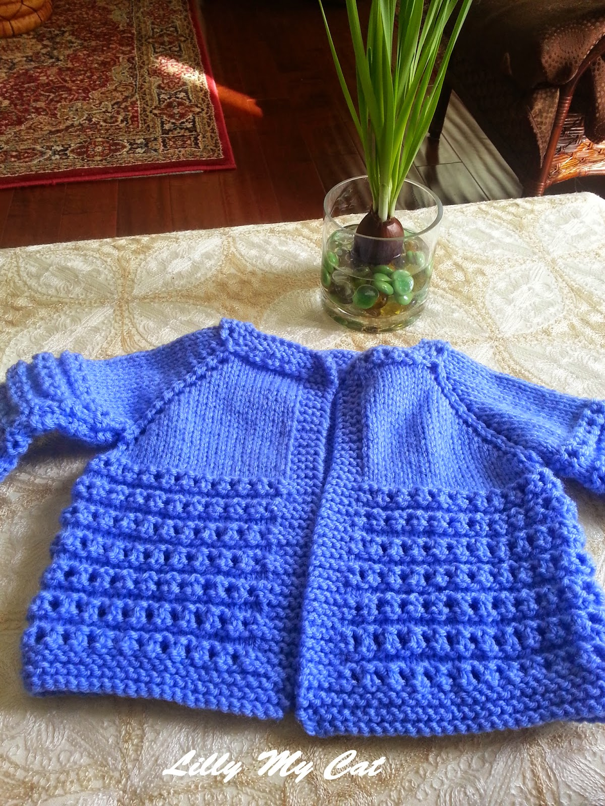 665404179 Lilly My Cat  TOP DOWN BABY SWEATER - Plymouth Yarn Company - FREE ...