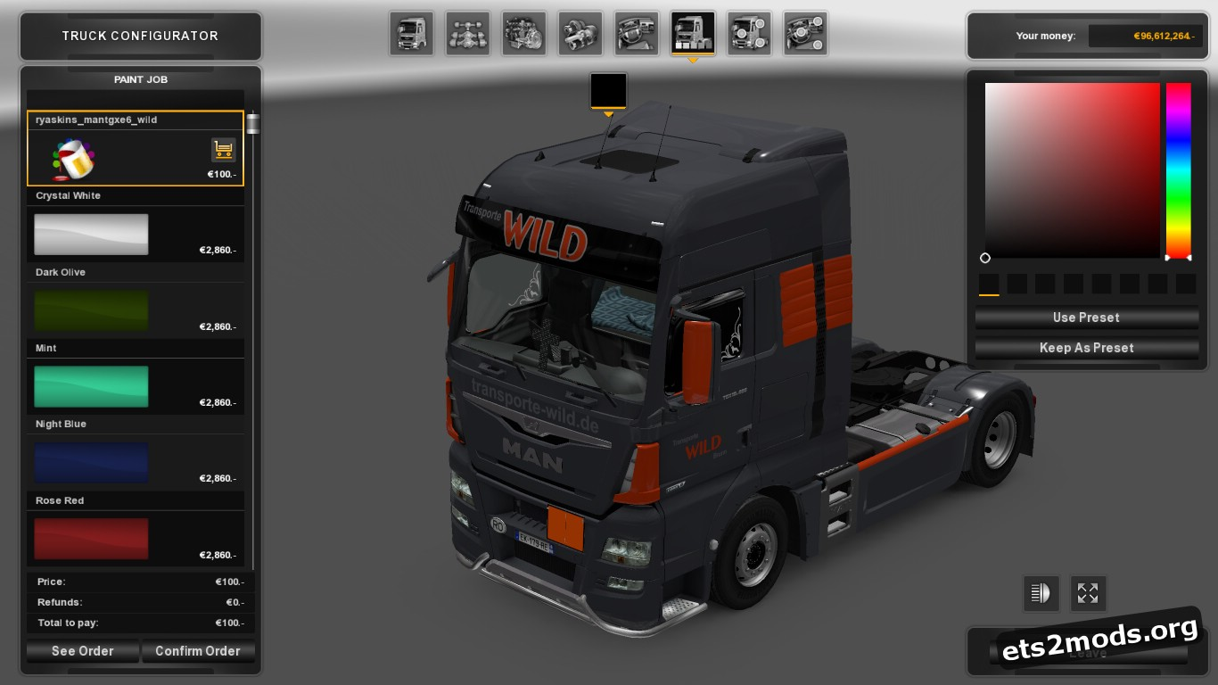 Wild Transporte Skin for MAN TGX Euro 6