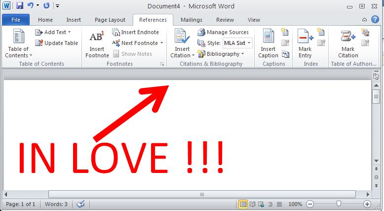 No Shhing Here MS Office 10 and the Dreaded Works Cited Page - work cited layout
