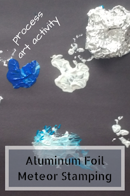 Aluminum Foil Meteor Stamping Process Art Activity for Toddlers and Preschoolers