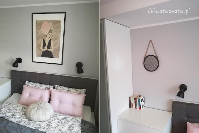 sypialnia w szarościach, ikea, sypialnia skandynawska, bedroom