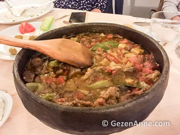 Selanik usulü sebzeli güveç, Şirince Dimitros restaurant