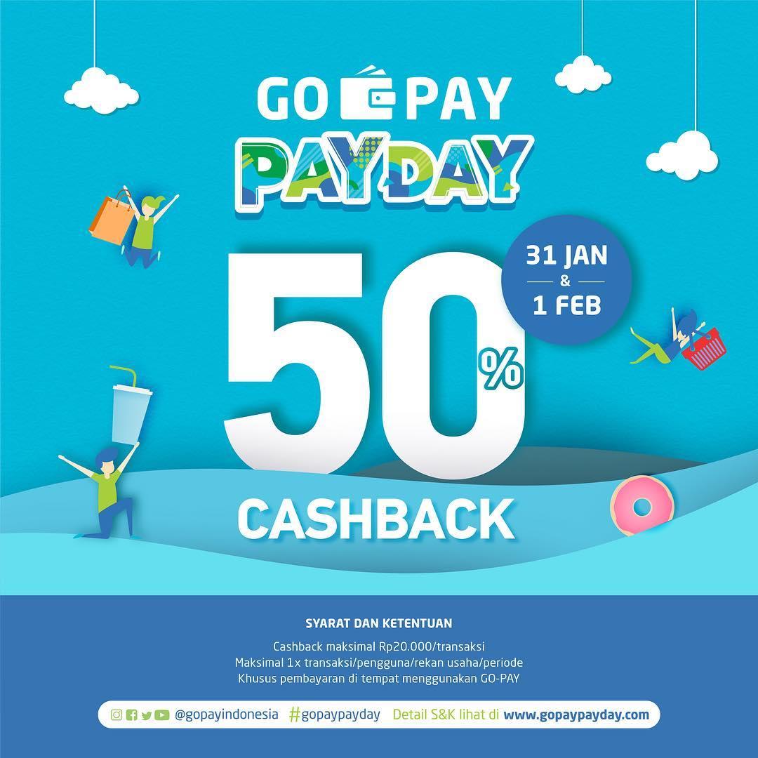#DunkinDonut's - #Promo Cashback 50% Pakai GOPAY (31 Jan - 01 Feb 2019)