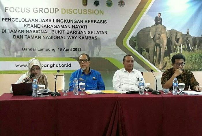 Dishut Lampung dan Puslibathut Bahas Stasiun Riset Taman Nasional
